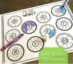math workshop, math games first grade, first grade common core math Play Math Games, Fun Math, Math Activities, Math Classroom, Kindergarten Math, Teaching Math, Teaching Resources, Classroom Ideas, 1st Grade Math