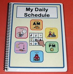 My Daily PECS Schedule Autism Picture Schedule by TheAutismShop.like this idea.different page for each thing instead of seeing everything at once. My child is not autistic but does better with simple visual lists. Autism Sensory, Autism Activities, Autism Resources, Toddler Activities, Pecs Schedule, Autism Help, Visual Schedules, Visual Schedule Autism, Ideas