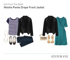 Stitch Fix, Kut From The Kloth - Maisha Ponte Drape Front Jacket; KEPT, tagsthoughts.com