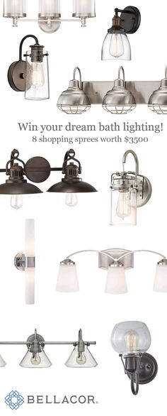 $500 Bath Lighting Shopping Sprees! Pick out your dream bathroom lighting at Bellacor.com