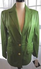 NWT Terry Lewis 100% Genuine Leather Blazer/Jacket Green Size Medium Fully Lined