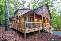Romantic getaway ideas near Atlanta: rent a cozy cabin in the North Georgia mountains