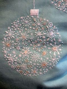 leave off the ornament hanger & nice snow or star pattern leave off the ornament hanger & nice snow or star pattern The post leave off the ornament hanger & nice snow or star pattern appeared first on Embroidery and Stitching. Christmas Embroidery Patterns, Hand Embroidery Stitches, Embroidery Hoop Art, Embroidery Techniques, Hand Embroidery Designs, Embroidery Applique, Embroidery Ideas, Christmas Quilting, Snowflake Embroidery
