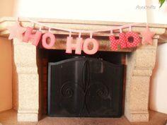 Christmas HOHOHO Fabric Garland. Lovely by AnnCraftsArtesanato
