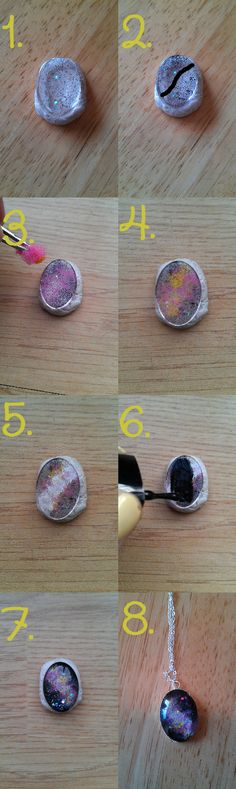 Create your own galaxy necklace
