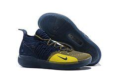 "64b624f171d4cb Nike KD 11 ""Michigan"" College Navy/University Gold AO2604-400 Navy  University"