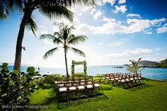 Rustic Wooden Folding Chairs with Ornate Driftwood Wedding Canopy