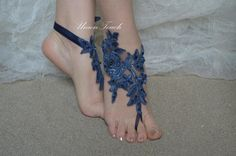 Blue lace Sandals bleu royal Barefoot Sandals Beach by UnionTouch Beach Wedding Sandals, Bare Foot Sandals, Blue Lace, Barefoot, Weddings, Trending Outfits, Unique Jewelry, Handmade Gifts, Vintage