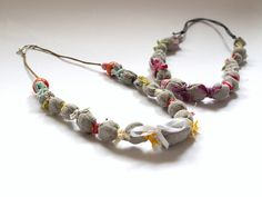 Fabric Recycling Necklace