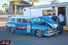 Troy Martin's 1953 Ford Ranch Wagon at the 2014 #OUSCI