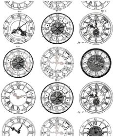 Free coloring page coloring-difficult-anciennes-montres. Ancient Engraving of old watches, very diverses in their styles. To print and color Watch Tattoos, Mom Tattoos, Body Art Tattoos, I Tattoo, Sleeve Tattoos, Tatto Clock, Clock Tattoo Design, Tattoo Designs, Clock Tattoos