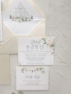 wedding details icons Custom Wedding Invitations, Wedding Stationery, Wedding Season, Our Wedding, Colored Envelopes, Custom Envelopes, Envelope Liners, Champagne Color, Wedding Website