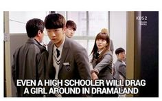 oh dramaland ~  Source : dramatroll  #even #a #highschooler #will #drag #girl #around #in #dramaland #dramatroll #drama #troll #school #2015 #sungjae #btob #kimsohyun #whoareyou #koreandrama #dramakorea #koreabasecamp #hallyu #hallyustar #star