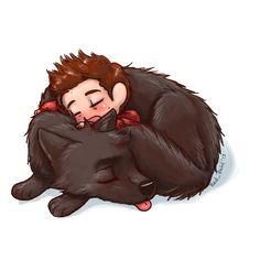 #Derek and #Stiles ~ Cute while Sleeping :3 haha fan art