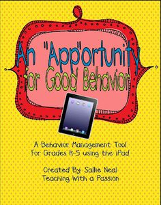 Teaching With a Passion: The Final Days......Ipad behavior activity! Very cute!