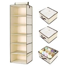 Buy StorageWorks Hanging Closet Organizer, Foldable Closet Hanging Shelves with 2 Drawers & 1 Underwear Drawer, Polyester Canvas, Natural, inches Hanging Closet Shelves, Hanging Closet Organizer, Closet Organization, Under Shelf Basket, Mobile Home Living, Pull Out Drawers, Closet System, Cubbies, Cozy House