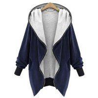 Prezzi e Sconti: #Giacca jersey con cappuccio blu-grigio xs  ad Euro 27.99 in #Blu grigio #Womens outerwear