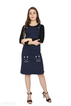 Dresses Urbane Ravishing Pinafore Dresses Fabric: Cotton Lycra Sleeve Length: Three-Quarter Sleeves Pattern: Solid Multipack: 1 Sizes: S (Bust Size: 34 in Length Size: 34 in)  M (Bust Size: 36 in Length Size: 34 in)  L (Bust Size: 38 in Length Size: 34 in) Country of Origin: India Sizes Available: S, M, L   Catalog Rating: ★4.1 (434)  Catalog Name: Urbane Ravishing Pinafore Dresses CatalogID_1125758 C79-SC1025 Code: 405-7055563-5031