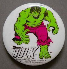 Vintage The Incredible Hulk Pinback Button 1980 | eBay