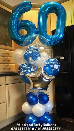 60th Birthday Balloons Cake For Mom Party