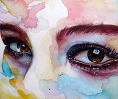 NOTE: Originally, these pictures were taken only as a part of my documentation and were not suppose to be published, but when eye study won a DD, I've u. Watercolor eye study, step by step Watercolor Eyes, Watercolor Art Paintings, Watercolor Portraits, Watercolors, Eye Painting, Nature Paintings, Watercolor Print, Art And Illustration, Street Art