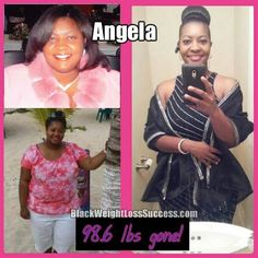 Angela lost 98 pounds | Black Weight Loss Success