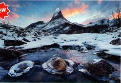 Puzzle Clementoni de 2000 piezas paisaje nevado lago montaña Noruega ( Ref: 0000032556 )