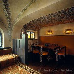 Vaulted dining room with decorative painting -- Location: Villa Hvittrask -- Architect: Eliel Saarinen -- Photo: Fritz von der Schulenburg/The Interior Archive