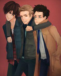 Sam, Dean, Castiel - Supernatural Fan Art (31000782) - Fanpop