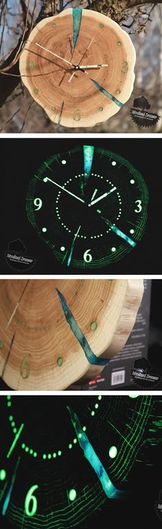 #Clock, #Giant #Wall Clock, #Design Wall Clock, #Wooden Wall Clock, #Glow in the Dark Clock, Unusual Wall Clocks, #Personalized Wall Clocks, #Unique - #glowinthedark #Homedecor #interiordesign