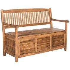 Wooden Garden Bench Outdoor Wood Yard Furniture Storage Benches 2 Seaters  Deck In Garden U0026 Patio, Garden U0026 Patio Furniture, Garden Benches   EBay    Garden ...