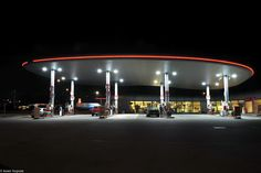 texaco langs de in kruibeke Texaco, Pictures, Night