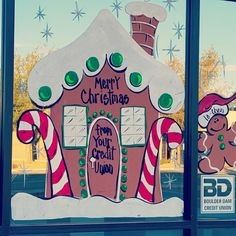 Credit union with gingerbread for each employee