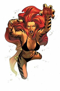 From Captain Marvel to Scarlet Witch here are the 20 strongest female characters in to ever come from Marvel! Tigra Marvel, Marvel Dc, Marvel Comics, Marvel Women, Marvel Girls, Comics Girls, Marvel Heroes, Captain Marvel, Marvel Comic Character