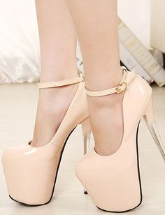 Gorgeous Ombre Heel Angle-Strap Pumps