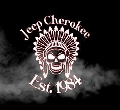 Jeep Cherokee decal, vinyl decal, car decal, XJ decal, laptop, yeti cup, skull decal by StaceyGribblevinyl on Etsy
