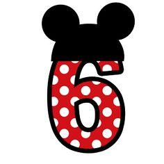 Números para montagens digitais tema Minnie e Mickey - Cantinho do blog