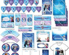 Frozen Party Decorations, Frozen Party Printables, Printable Frozen Party Package