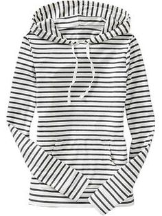 navy & white striped hoodie.