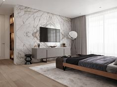 """Bedroom in a project """"The Wood, Stone & Cooper"""" by Ab-architects Luxury Bedroom Design, Modern Interior Design, Indian Living Rooms, Home Living Room, Living Room Tv Unit Designs, Small Room Bedroom, Apartment Interior, Luxurious Bedrooms, Home Decor Furniture"""