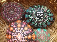 Mandala Stone by ArtsOfAnanda on Etsy Acrylic Spray, River Stones, Christmas Bulbs, Mandala, Beaded Bracelets, Painted Stones, Holiday Decor, Unique Jewelry, Handmade Gifts