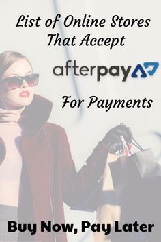 Online S That Accept Afterpay To Now Pay Later