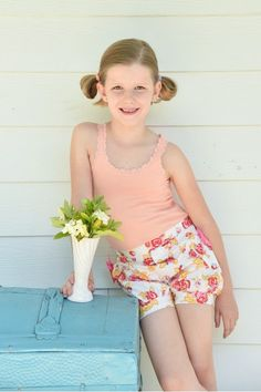 Lili Bubble Shorts - Cottage Roses
