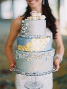 Metallic cake: http://www.stylemepretty.com/california-weddings/san-diego/2015/04/07/glamorous-versailles-wedding-inspiration/   Photography: Carmen Santorelli - http://carmensantorellistudio.com/