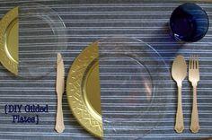 DIY Gilded Plates