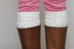 Crochet Boot Cuffs In Cream - Vanilla Cream Boot Toppers on Luulla by murtsss