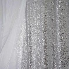 20x10ft Grand Duchess Sequin Backdrop - Silver | Tablecloths Factory – tableclothsfactory.com