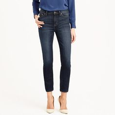 J. Crew jeans.  Toothpick skinny + a higher rise = nipped waist, great stretch and legs for miles (even without heels). Premium Turkish cotton—our latest obsession—puts the slimming power of your favorite body shaper (how did we live before those?) into one major pair of jeans. We went ahead and gave this one a little crop to take you from spring right into summer.