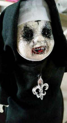 Ankle Biter Nun by Dark Alley Dolls www.facebook.com/darkalleydolls