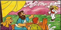 Jésus marche sur l'eau (visuels) - Levangelisation (section Enfants)